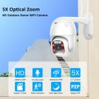 5MP PTZ Wifi IP Camera, 5X Optical Zoom, 8pcs Led IR 30m, Wireless Camera