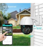 2MP 1080P PTZ Wifi IP Camera, 4X Digital Zoom, Outdoor Wireless Camera
