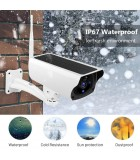 2MP 1080P Solar WiFi IP Camera, Outdoor Charging Battery, PIR Motion Detection